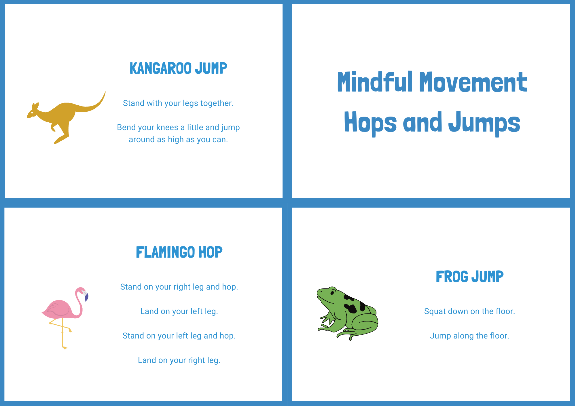 Hops and Jumps