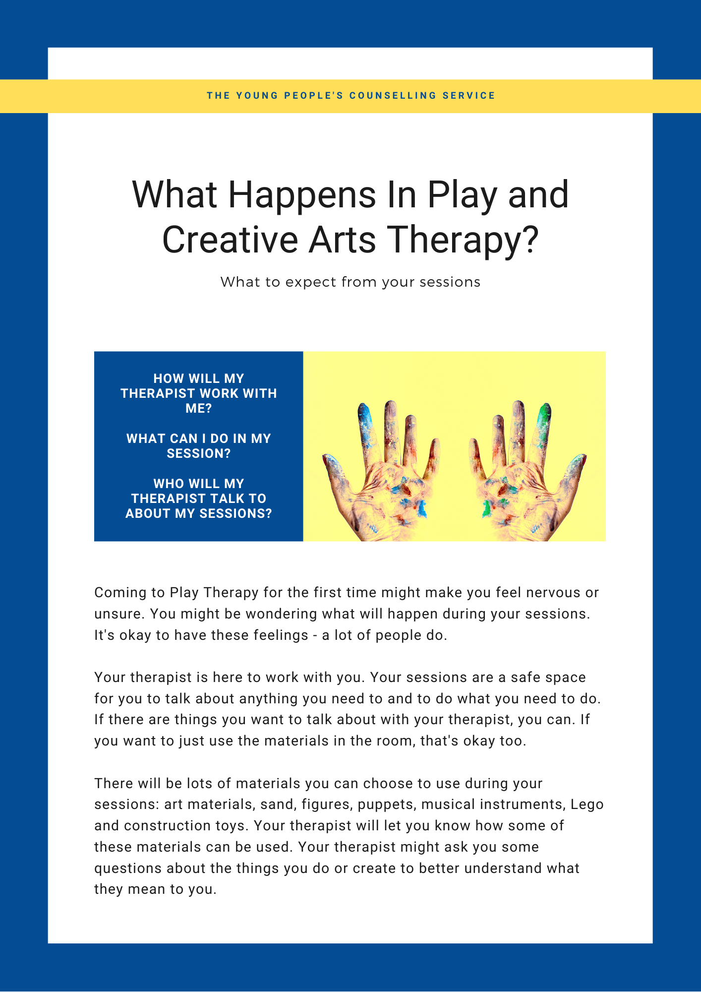 What Happens In Play and Creative Arts Therapy?