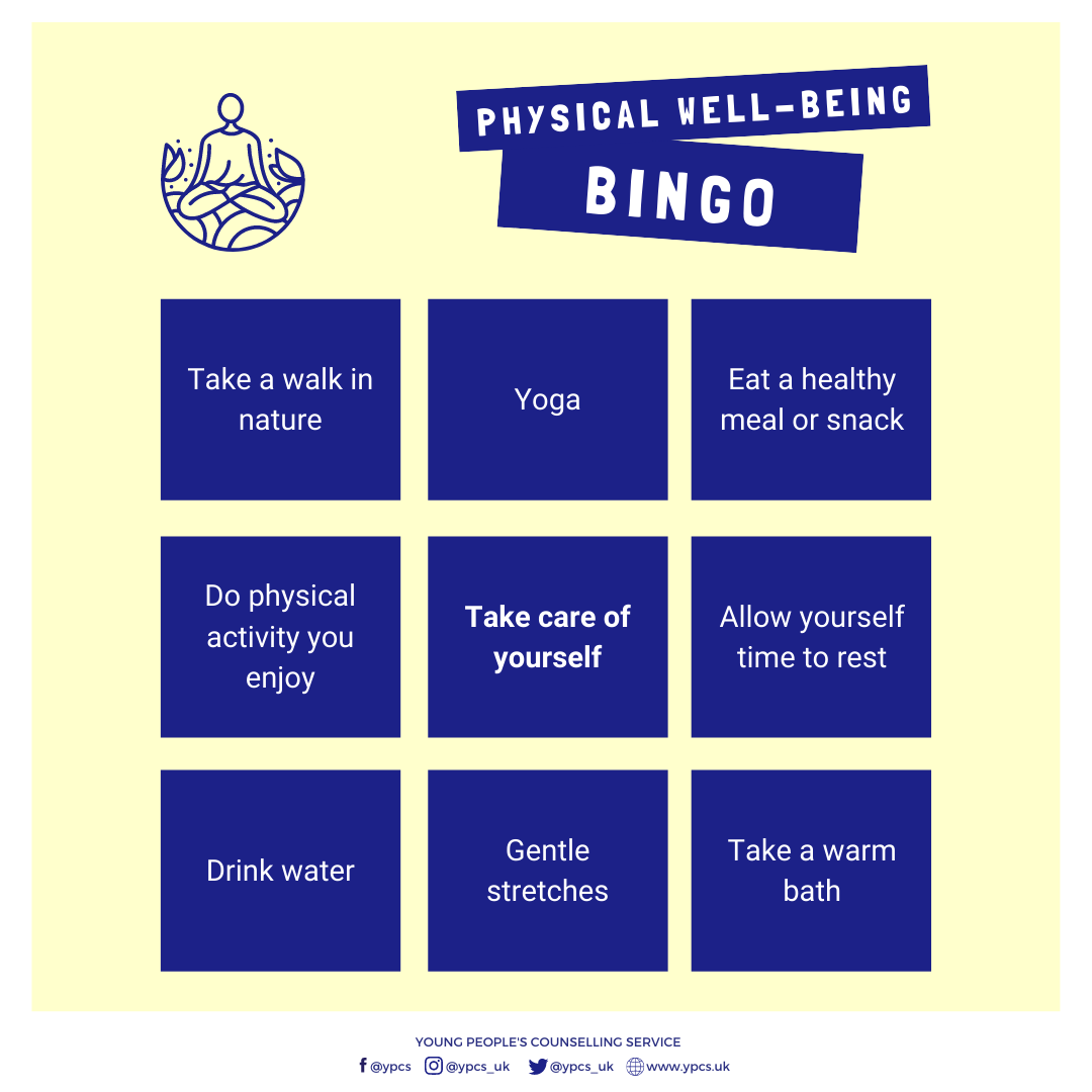 Physical Well-Being Bingo
