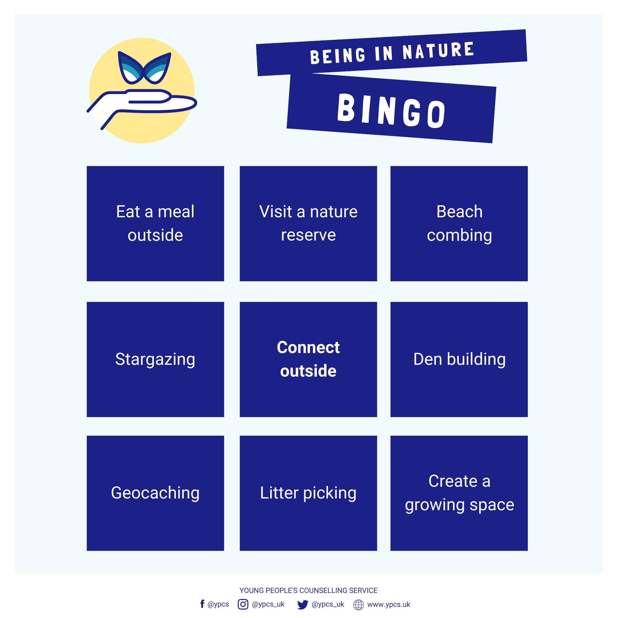 Being In Nature Bingo