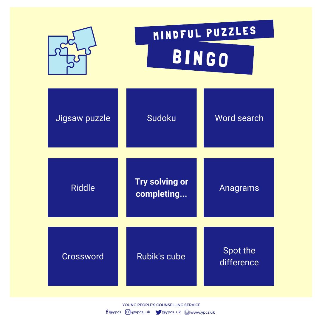 Mindful Puzzles Bingo